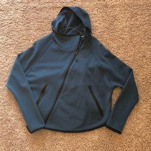 Asymmetrical teal Nike jacket
